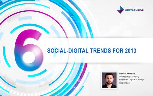 6 Ditigal Trends 2013 David Armano
