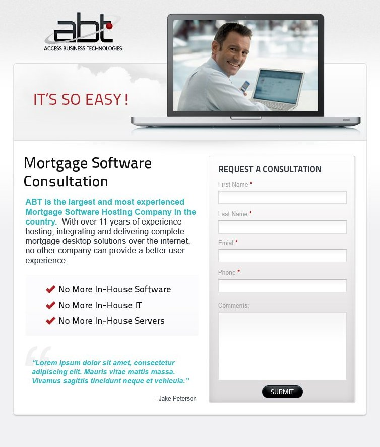 Access Business Technologies Mortgage Software Consultation