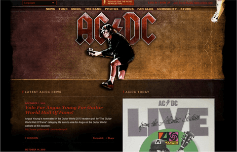 acdc music website