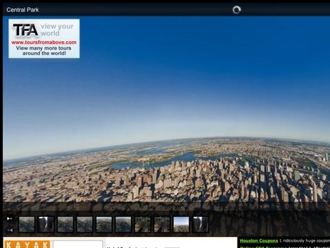 Aerial Virtual Tour of New York City Travel Website Designs