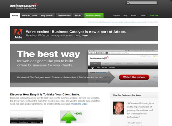 Business Catalyst CMS