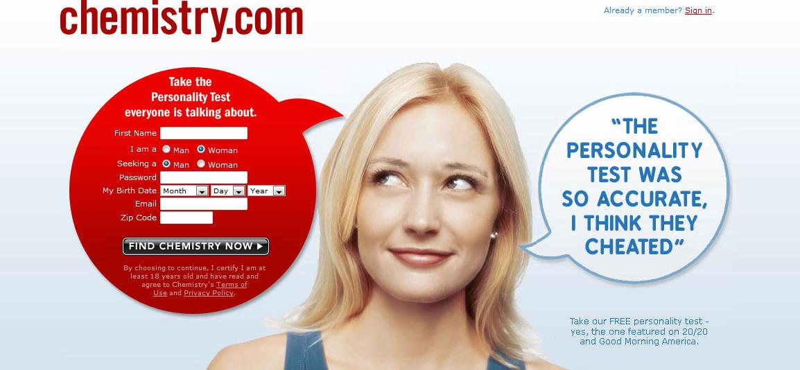 Chemistry.com E-Commerce Web Experiences