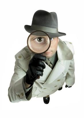 Man inspecting marketing strategy
