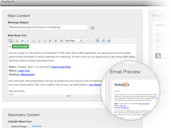 Email Tool Integration