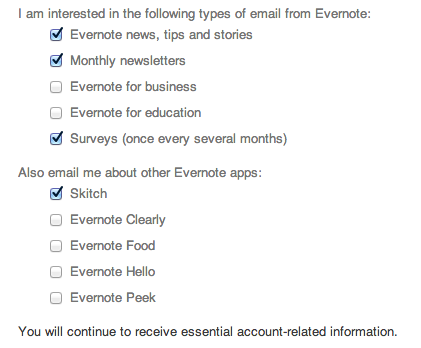 evernote emails