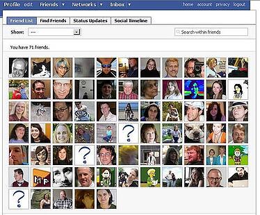 facebook marketing friends profile