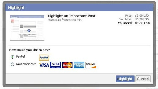 facebook highlight status updates1
