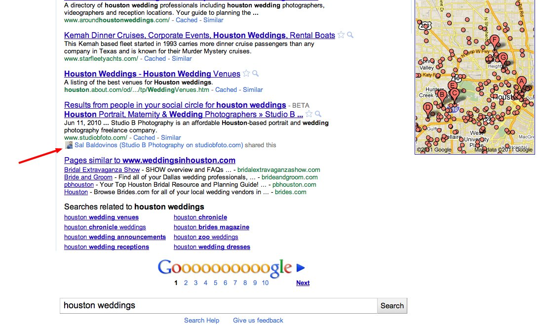 Google Social Links