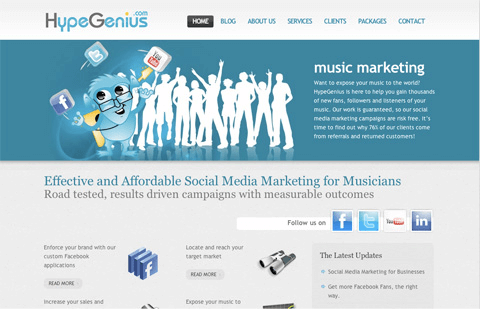 hype music website