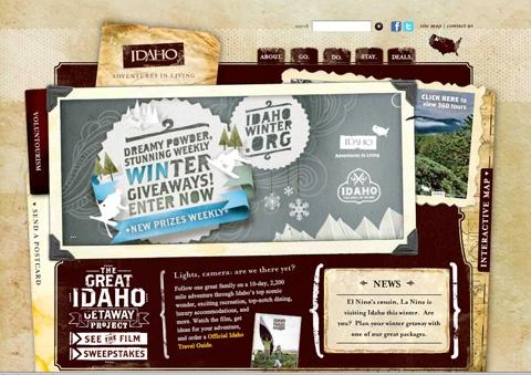 Idaho Travel Website Designs