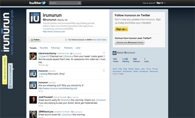 irunurun Twitter page