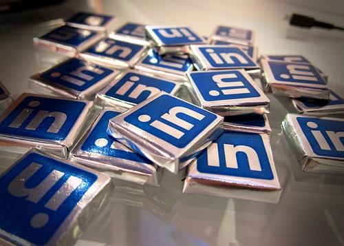Linkedin logo candies