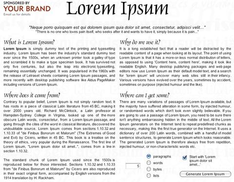 Lipsum Resources for Web Designers