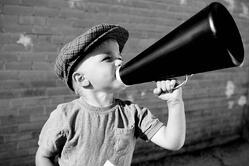 newsboy megaphone