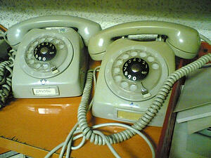 Old telephone for lead nurturing