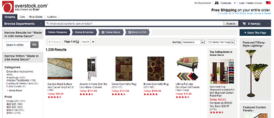 Overstock E-Commerce Web Experiences