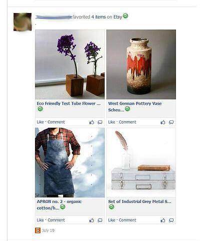 Pinterest like apps in news feed blur