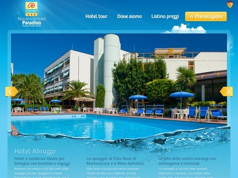 Residence Hotel Paradiso Travel Website Designs