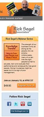 Rick Segel Email Sidebar