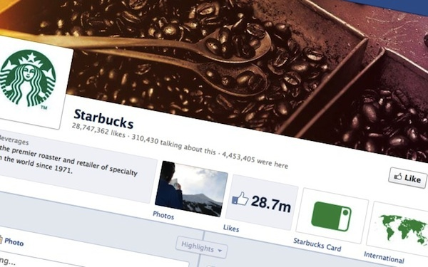 starbucks facebook page