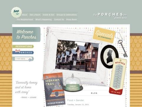 The Porches Inn Travel Website Designs