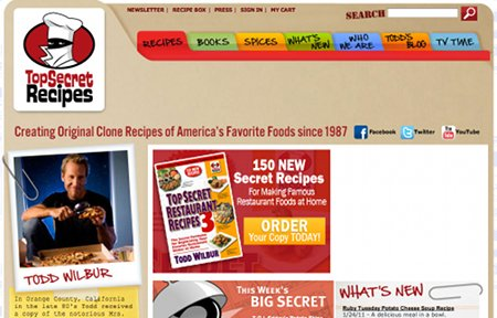 TopSecretRecipes.com Recipe Web Sites