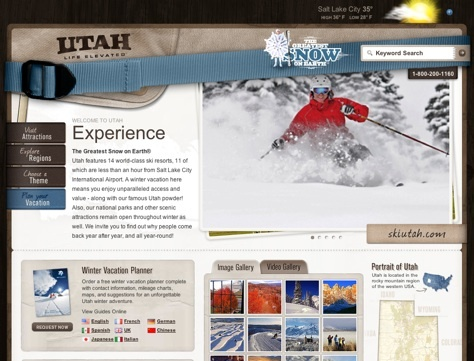 Utah Travel Website Designs