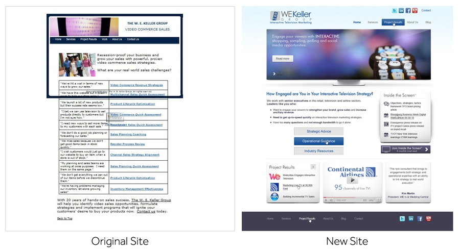 WE Keller website redesign
