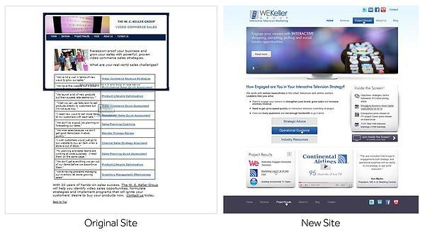 WE Keller website redesign