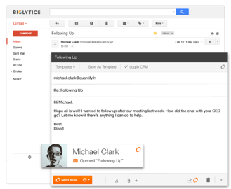 Use HubSpot's Sidekick for email notification