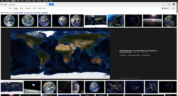 google image search changes
