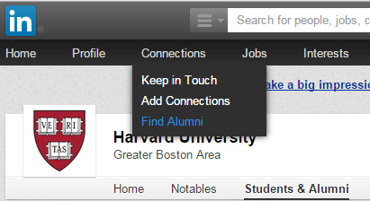 LinkedIn Alumni Connections