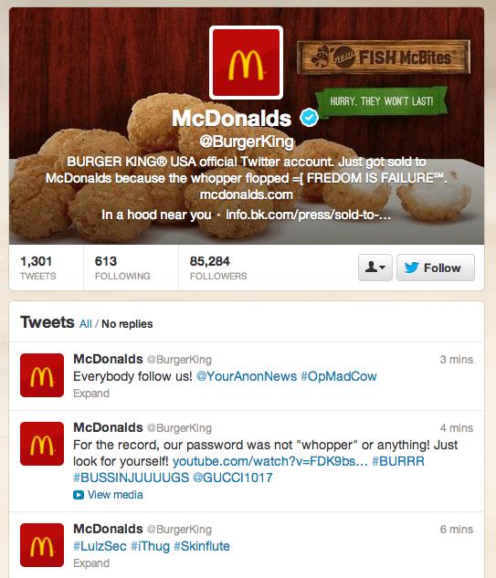 Burger King, Hacked!