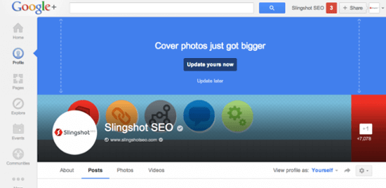 new google profile