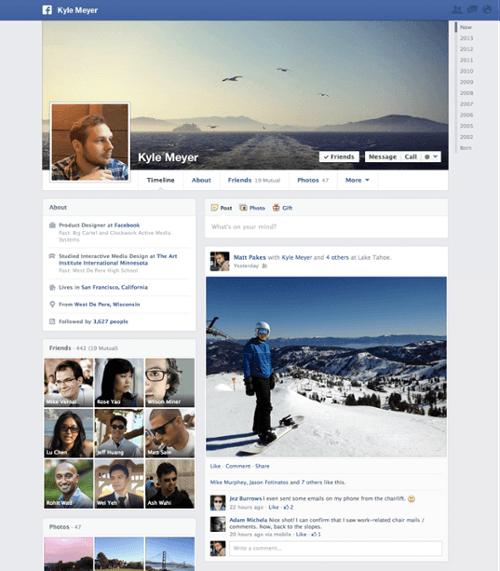 facebook new timeline