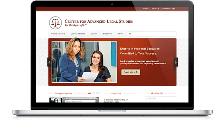 Center for Advanced Legal Studies HubSpot redesign allows for easy content updates