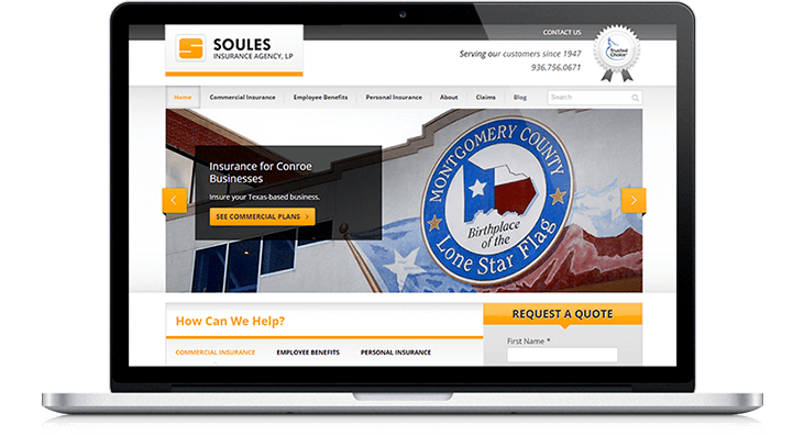 Soules Insurance Website Redesign