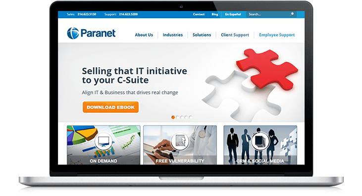 Paranet Website Redesign