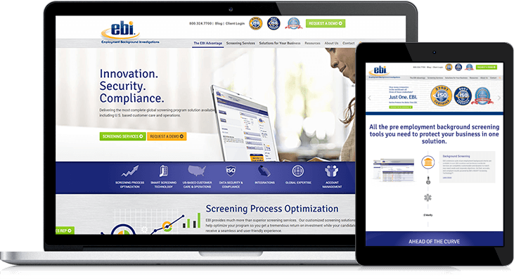 The EBI website redesign features new content offers and a streamlined message