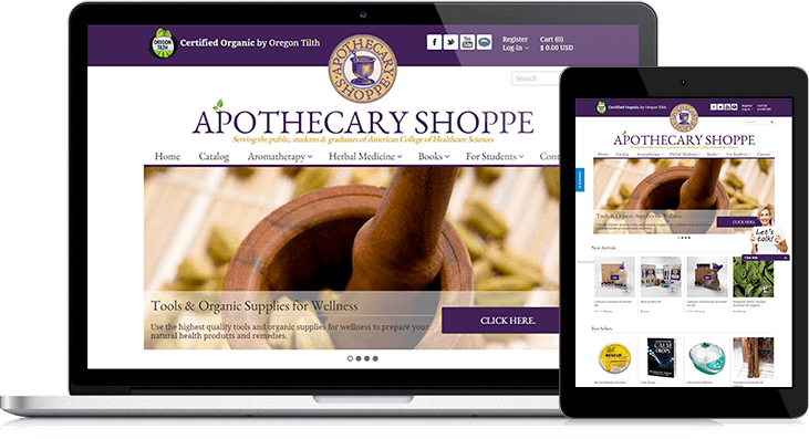 Apothecary Shoppe's website redesign offers customers a great shopping experience