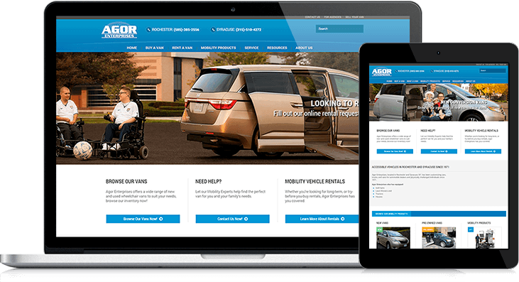 Agor Enterprises website redesign gives clients a way to shop for their mobility needs