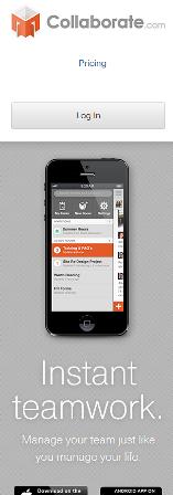 Collaborate's Mobile Site
