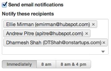 Sales social inbox notify