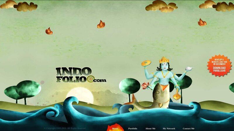 indofolio landing page design