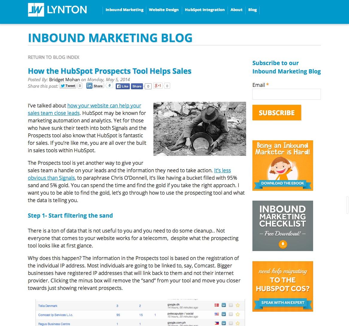 Mistakes on Your Inbound Marketing Blog