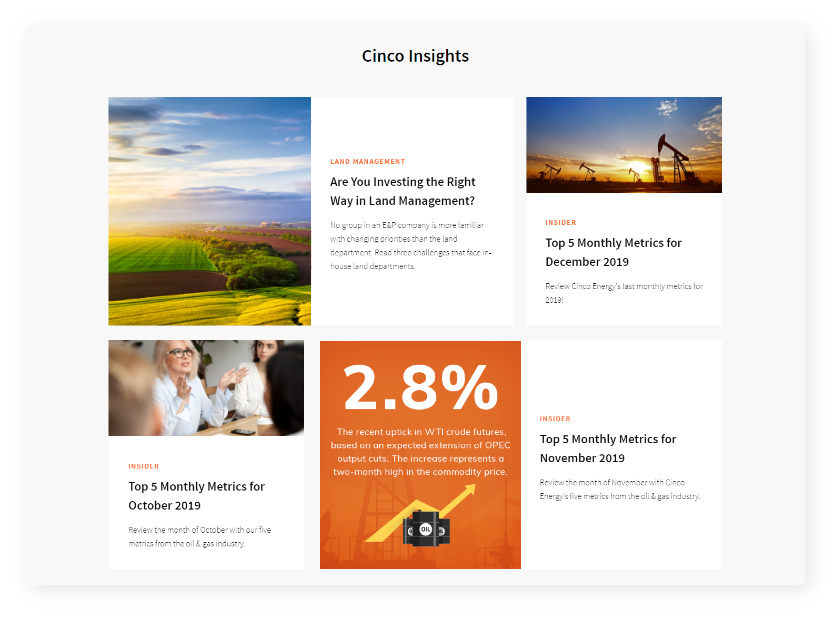 Cinco Insights