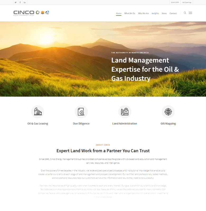 Cinco Energy Homepage