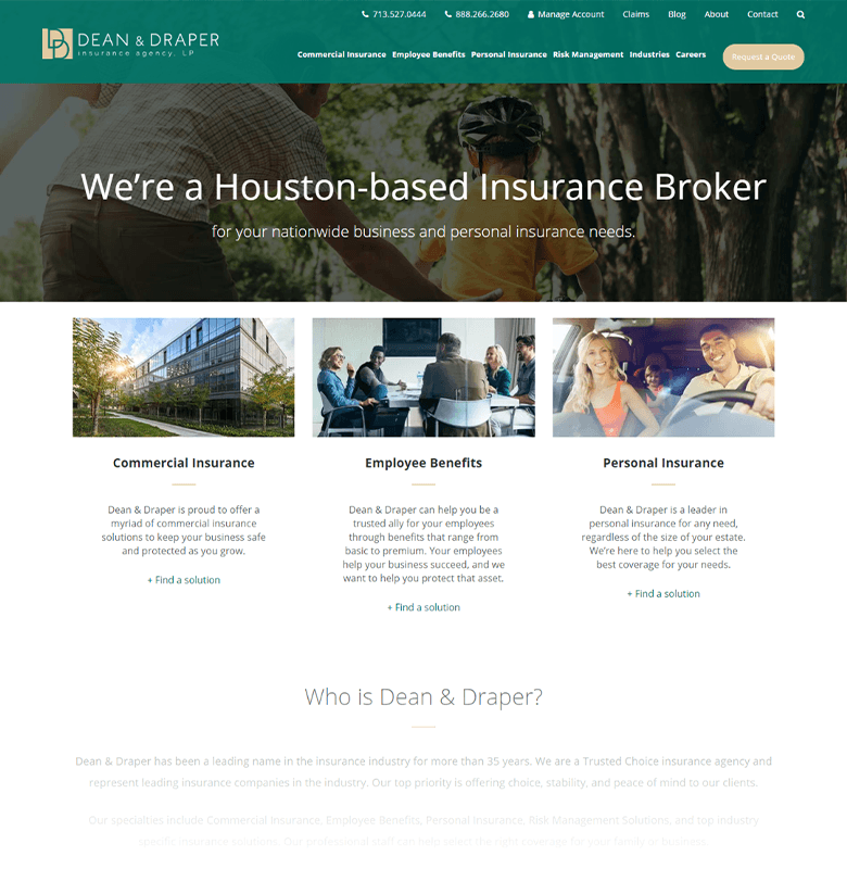 Dean & Draper Homepage
