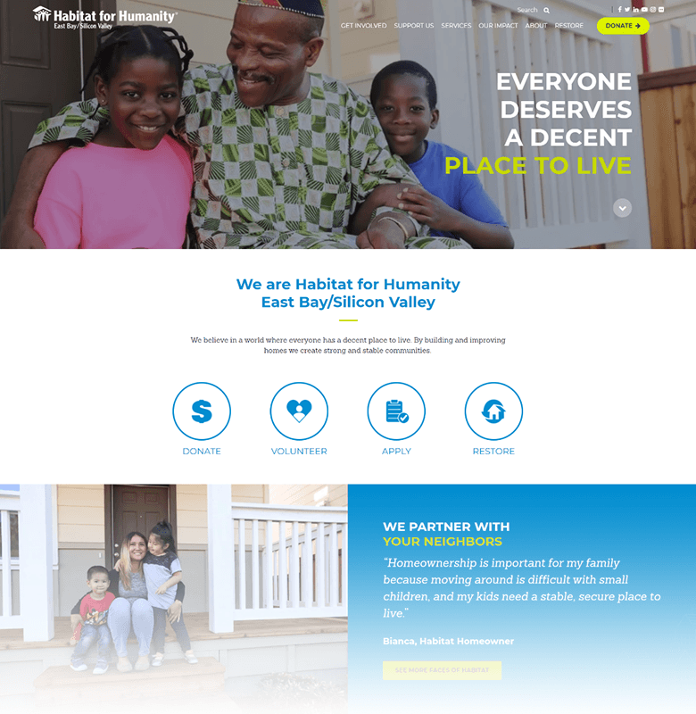 Habitat for Humanity EBSV Homepage