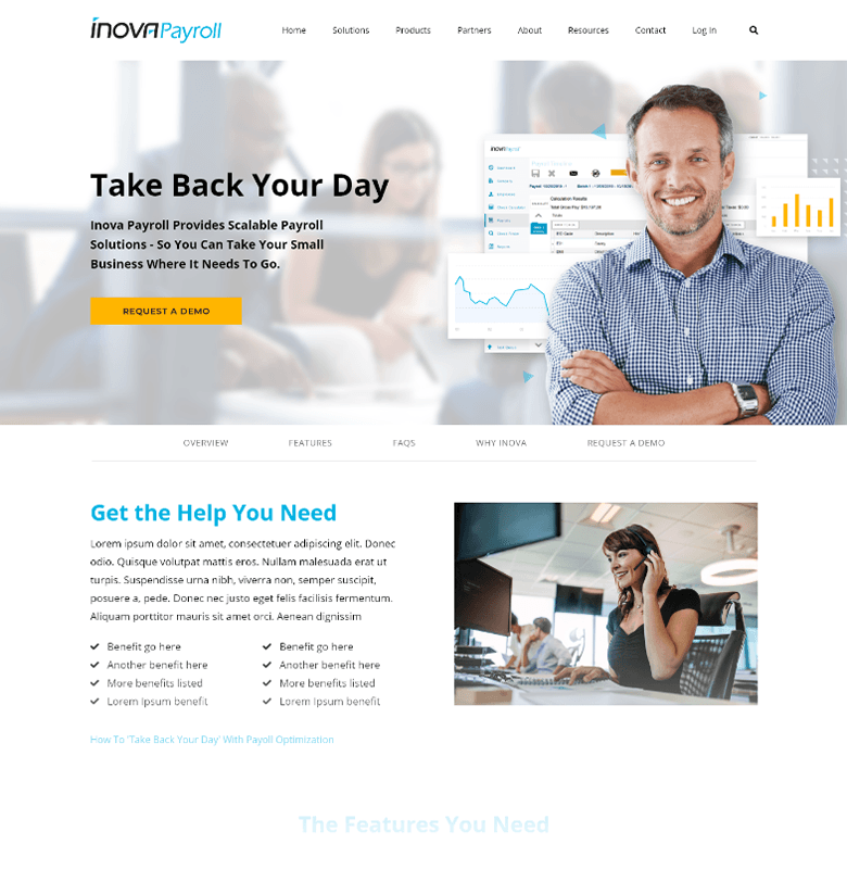 Inova Payroll 1-50 Employees Homepage
